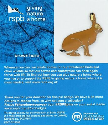 RSPB Pin Badge | brown hare GNAH BLUE (01481)