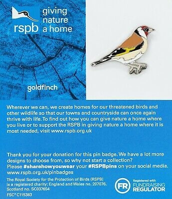 RSPB Pin Badge | goldfinch  GNAH BLUE (01503)