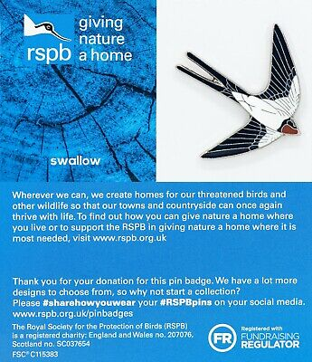 RSPB Pin Badge | swallow  GNAH BLUE (01553)