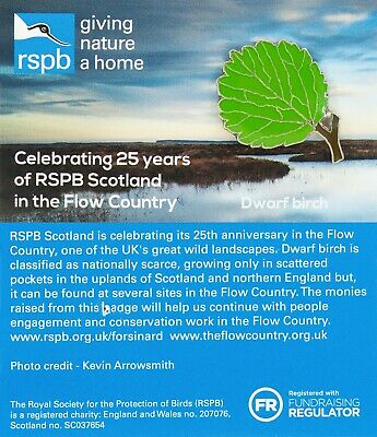 RSPB Pin Badge | dwarf birch leaf  Flows To The future (01569)