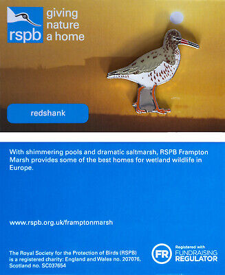 RSPB Pin Badge | redshank  Frampton Marsh (01295)