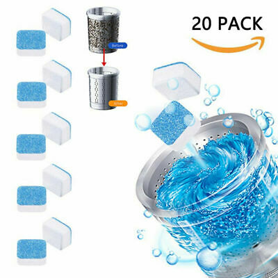 20PCS Washing Machine Effervescent Tablet Cleaning Tablet Washer Cleaner Remover