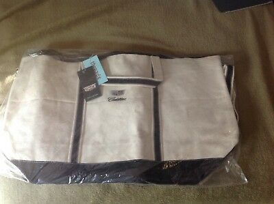 New Cadillac logo on large canvas travel bag new with tags