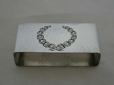 Antique Towle Hammered Sterling Silver Heavy Napkin Ring
