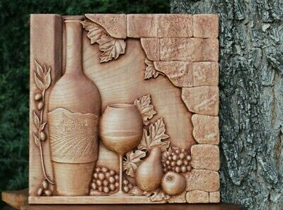 3D Carved Wood  Wall Decorative Panel  Home Decor