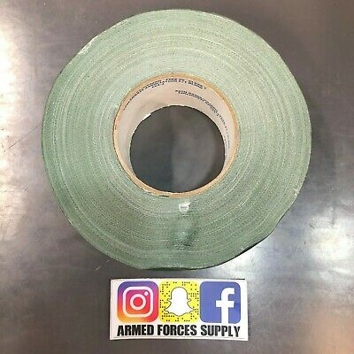 "48 Rolls Polytek 231 Military Grade Duct Tape 1/"" x 60 yds Olive Qty"