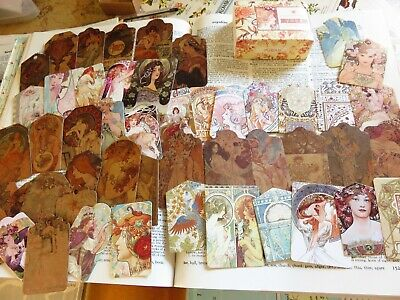 50 pc vintage art deco ladies ephemera for journals diaries scrapbooking
