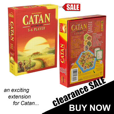 The Settlers of Catan Cards Game 5th Edition Extension 5-6 Players Board Game