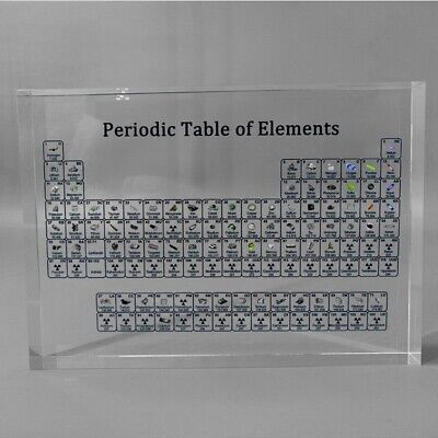 Periodic Table Display of 83 Real Elements For Student Teacher Teaching