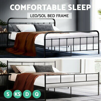 Artiss Metal Bed Frame QUEEN KING DOUBLE SINGLE Size Mattress Base Bedroom Bed
