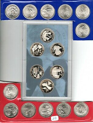 2009 P+D+S+S Guam Set ~ Silver /& Clad Proof Coins Satin PD in Mint Wrappers