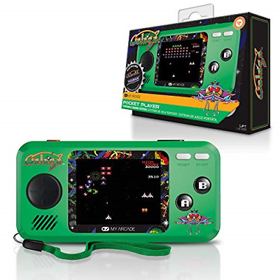 My Arcade Pocket Player Handheld Game Console: 3 Built In Games, Galaga, Full
