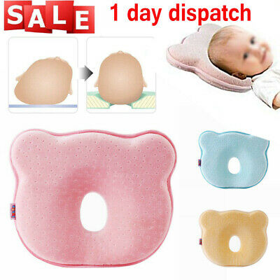 ✔Newborn Baby Cot Pillow Prevent Flat Head Memory Foam Cushion Sleeping Support
