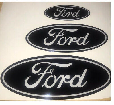Ford Focus ST Mk2 Mk3 Gel Badge Overlay Full Set , Black / White