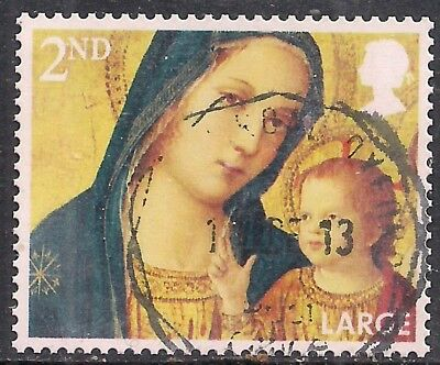 GB 2013 QE2 2nd Class Christmas Large Letter used stamp SG 3544  ( F1049 )