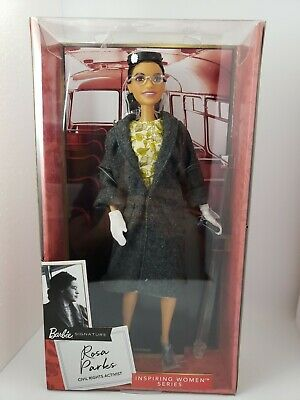 Barbie Inspiring Women Series  ROSA PARKS 11.5in Doll NEW IN BOX Doll Stand Incl