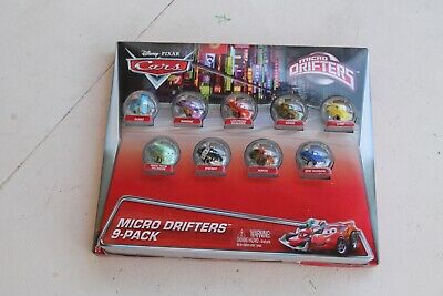 Disney Pixar Cars Micro Drifters 9 Pack Mini Racers Rare New In The Package HJ30