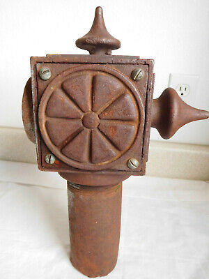 Large CAST IRON vintage Antique 4 SIDE Square FENCE post FINIAL TOP CAP