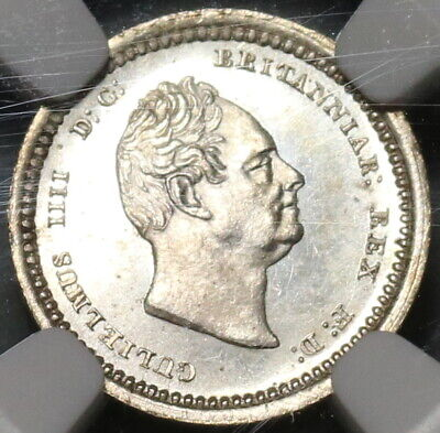 1831 NGC MS 62 William IV Great Britain 2 Pence Maundy Silver Coin (19122003C)