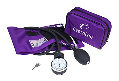 Aneroid Sphygmomanometer Blood Pressure Set With Adult Cuff Purple Carrying Case