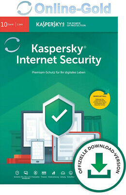 Kaspersky Internet Security 2020 Multi-Device 10 Geräte 1 Jahr 10 USER - EU