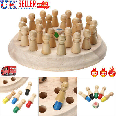 2020 Wooden Memory Match Stick Chess Game Children Kid Puzzle Educational Toy UK