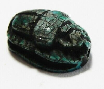 Zurqieh -As16001- Ancient Egypt, New Kingdom Stone Scarab. 1400- 1200  B.c