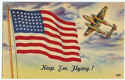 World War II Color Post Card,  Beautiful