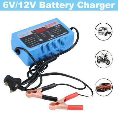 UK 6V 12V Motorcycle Motorbike Battery Charger Automatic Pulse Repair Starter