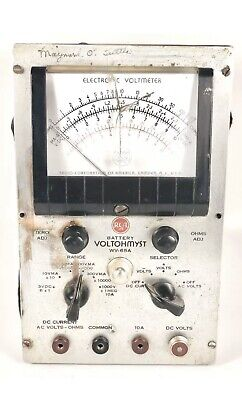 Vintage RCA Battery Voltohymst WV-65A Electric Voltmeter Steampunk