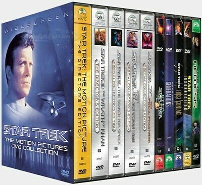 NEW Star Trek The Motion Pictures DVD Collection Box Set Complete Series Wars