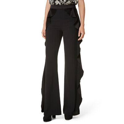 AUTH NEW ALice Olivia Wallace Side Ruffle Pants in Ivory $395