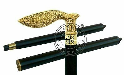 Nautical Brass Designer Handle Walking Stick/Canes Vintage Collectibles Item