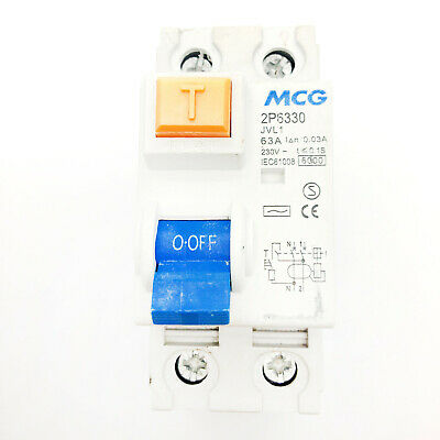 80 Amp 30mA Double Pole RCD RCCB Trip Switch and Metal Enclosure Earth Fault 80A