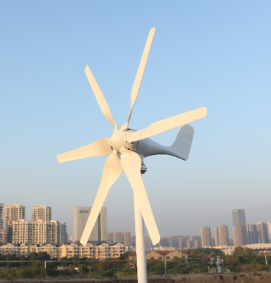800w Wind Turbine 6 Blades 12v 24v Horizontal Wind Generator With Controller