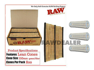 raw classic LEAN size cone FULL BOX ( 800 pack) 100%AUTHENTIC