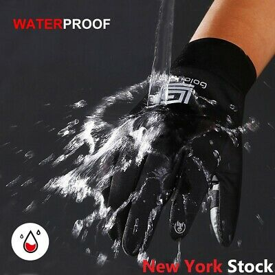 Winter Warm Gloves Black Touch Screen Windproof Waterproof Outdoor Sport Unisex