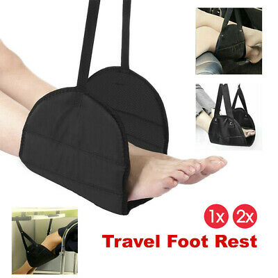 1/2x Travel Foot Rest Footrest Leg Pillow Flight Memory Foam Cushion Hammock