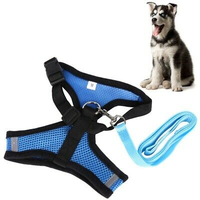 Pet Puppy Dog Mesh Breathable Harness and Leads Adjustable Leash Vest Size S/M/L