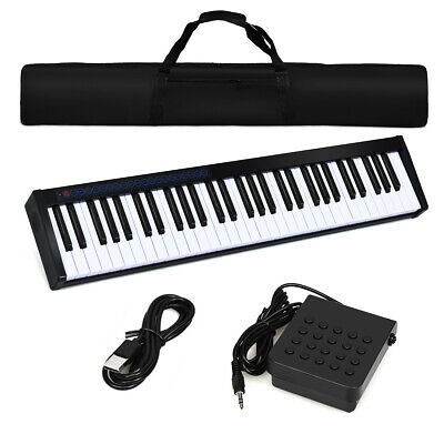 61 Keys Portable Electronic Digital Piano Keyboard Cordless Electric Music MIDI