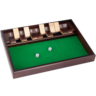 Shut The Box Game - 12 Numbers (Includes Dice)