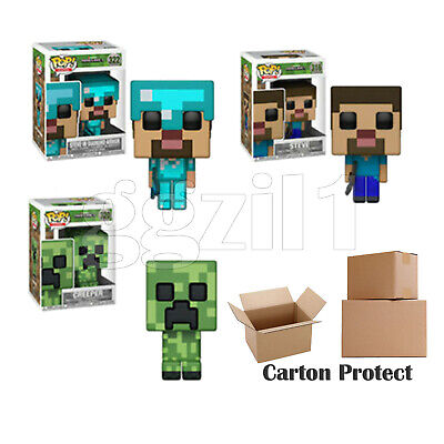 Vinyl Minecraft Steve Creeper Figures Funko Pop! Doll Collectibles Toys Gift