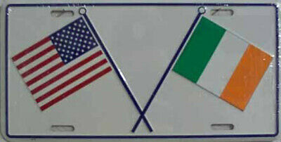 Ireland & Usa Flag License Plate Irish American Sign