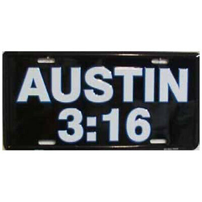 Stone Cold Steve Austin WWE Wrestling LICENSE PLATE SIGN
