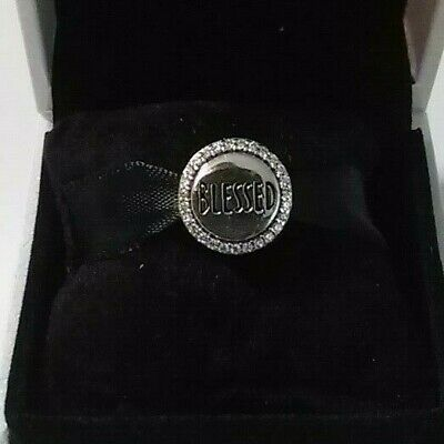 Authentic 925 Pandora Blessed Charm Sterling Silver #ENG792016CZ
