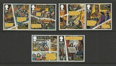 GB 2016 Great Fire of London SG 3879-3884 MNH Stamps
