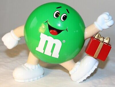 M&M's Dispenser Green Plain with Red Present