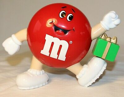 M&M's Dispenser Red Plain with Green Present