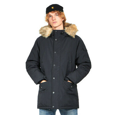 Details about 7827@ CARHARTT Anchorage Parka Mens Black Hooded Warm Winter Durable Jacket Sz M