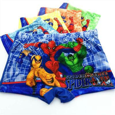 3 Pack Spiderman Character Boxers Pants Briefs Boys Kids Underwear NEW